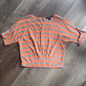 French Connection Jayne top -coral and sand six S